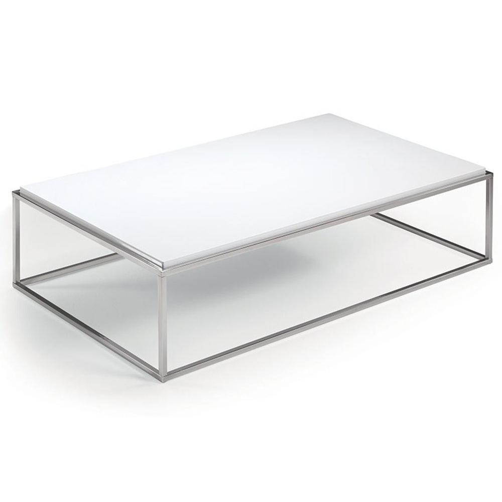 Table Mimi Blanc Rectangle Basse Mat iZXPkuO