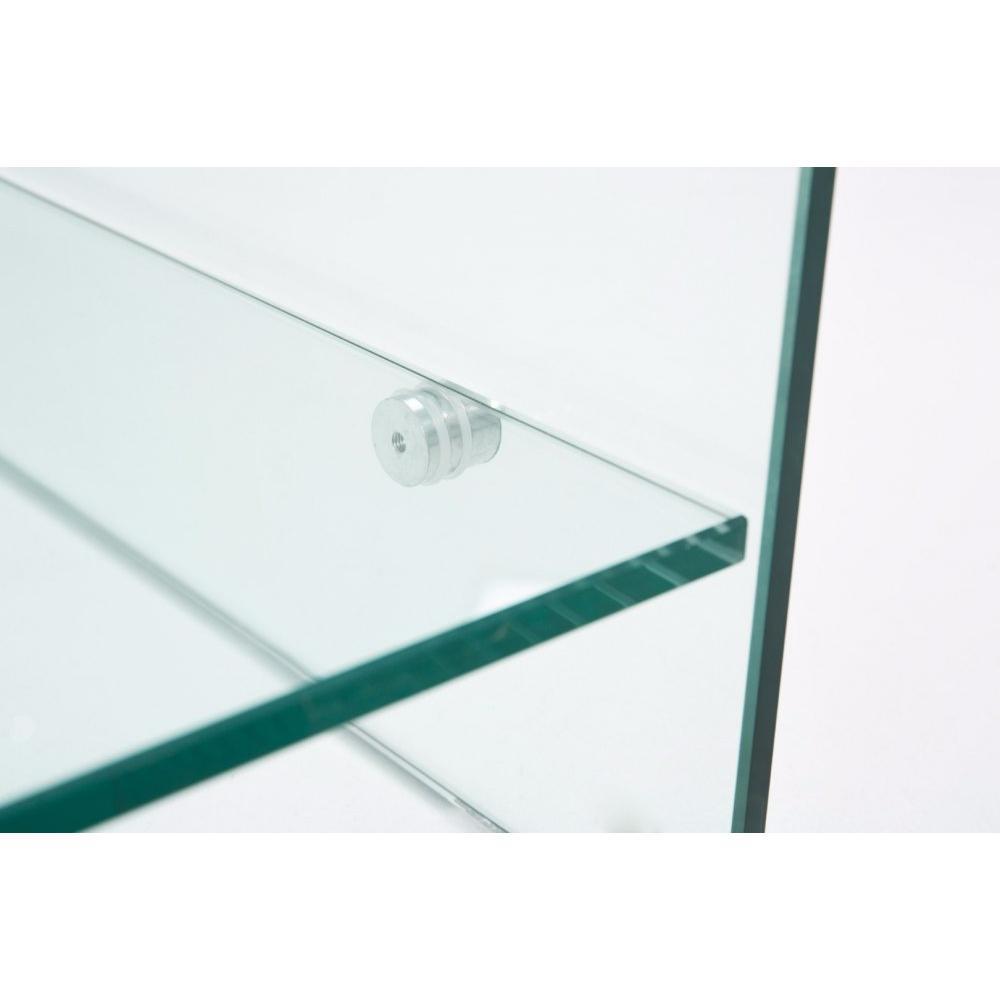 Table basse carr e ronde ou rectangulaire au meilleur prix table basse neil - Table basse en verre 2 plateaux ...
