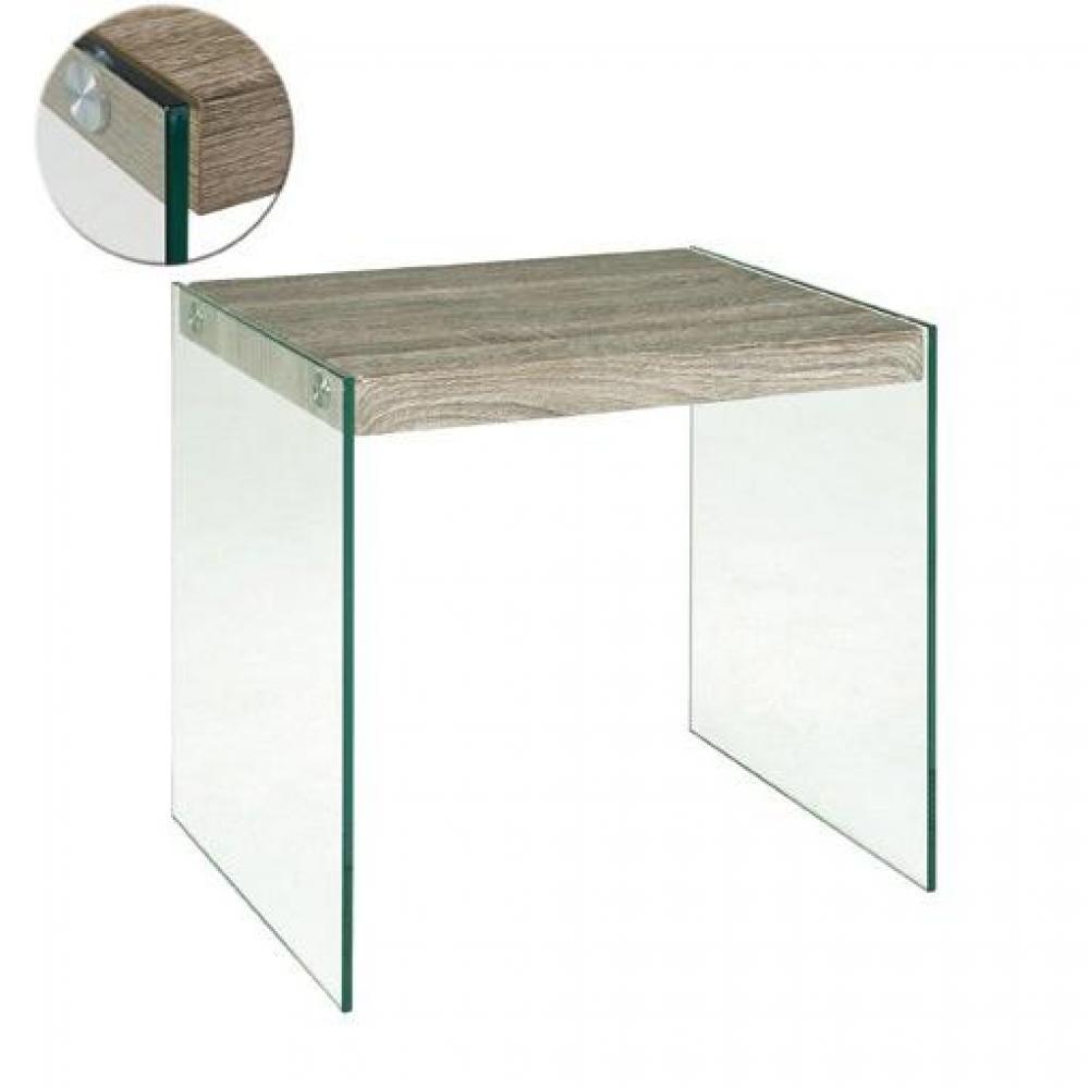 table basse carr e ronde ou rectangulaire au meilleur prix table basse nina en verre et ch ne. Black Bedroom Furniture Sets. Home Design Ideas