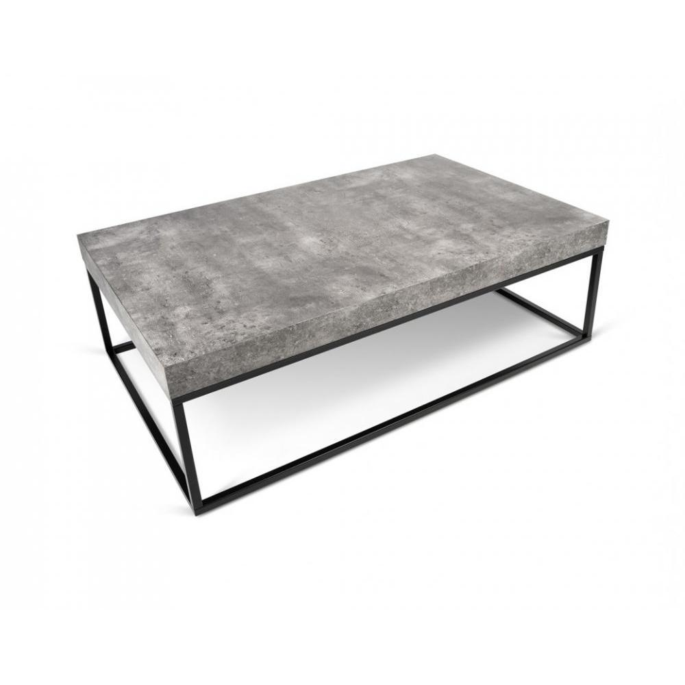Table basse carr e ronde ou rectangulaire au meilleur - Table basse imitation beton ...
