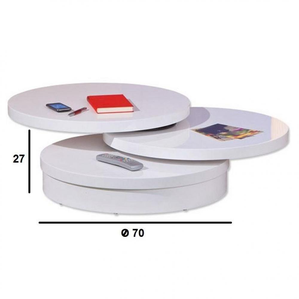 Table basse carr e ronde ou rectangulaire au meilleur - Table basse pivotante ...