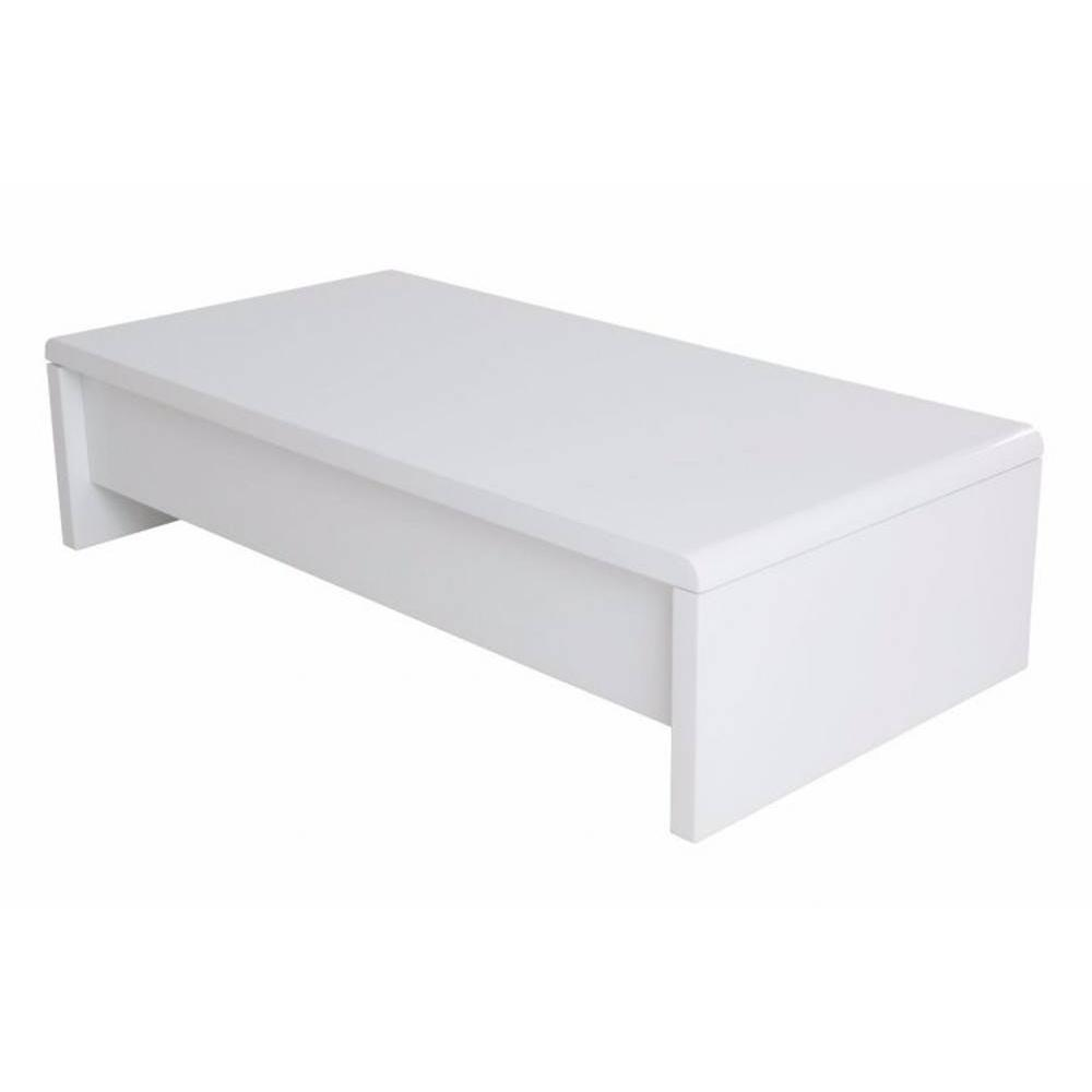 Chaises meubles et rangements table basse rectangle - Table basse coffre blanc ...