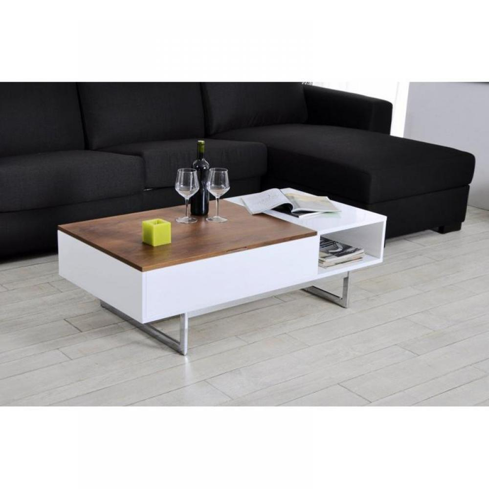 table basse carr e ronde ou rectangulaire au meilleur prix table basse tagg rehaussable avec. Black Bedroom Furniture Sets. Home Design Ideas