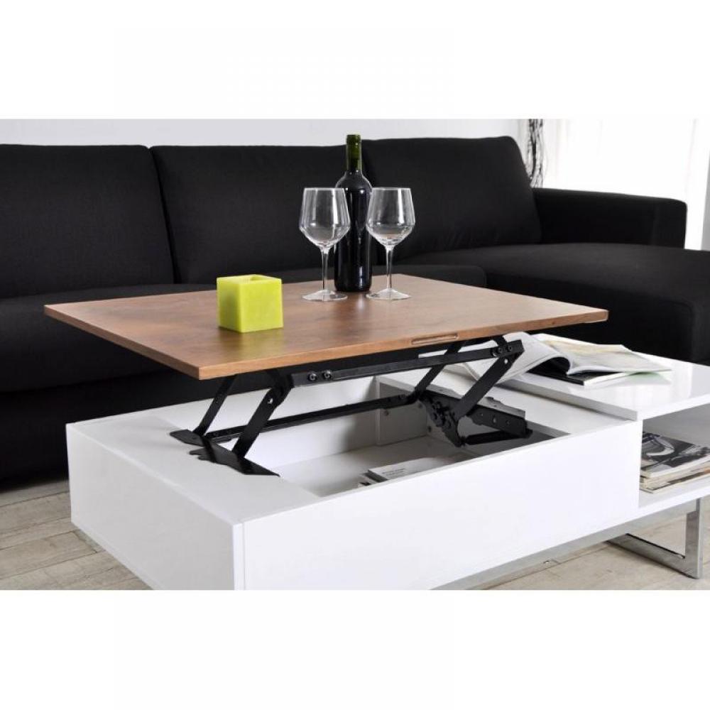 table basse carr e ronde ou rectangulaire au meilleur prix table basse tagg rehaussable avec. Black Bedroom Furniture Sets. Home Design Ideas
