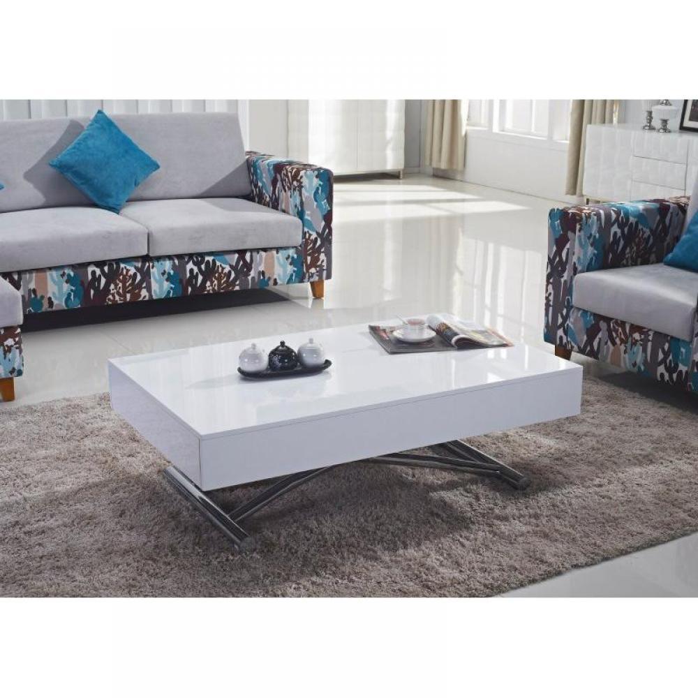 Table relevable design ou classique au meilleur prix table basse relevable b - Table relevable blanche ...