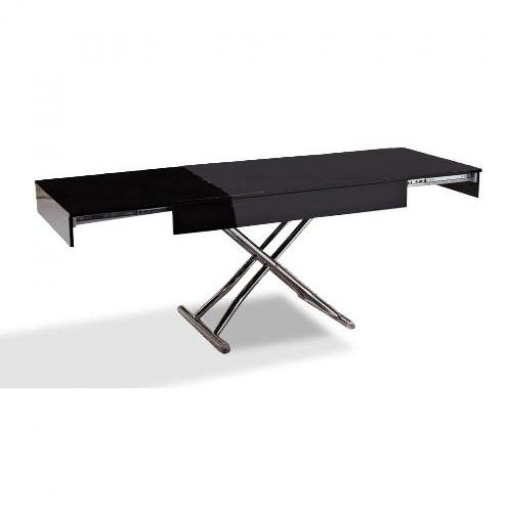 table relevable design ou classique au meilleur prix table basse relevable cube noire mate. Black Bedroom Furniture Sets. Home Design Ideas