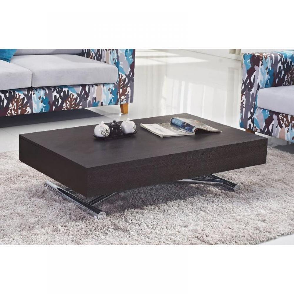 magasin en ligne 20442 532e0 Table basse relevable CUBE wengé extensible 10 Couverts