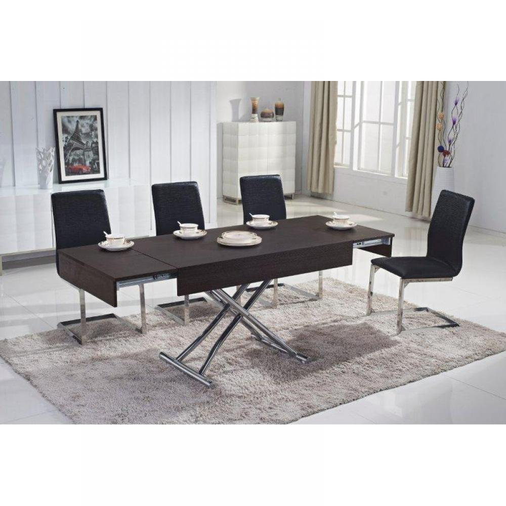 table relevable design ou classique au meilleur prix table basse relevable cube weng. Black Bedroom Furniture Sets. Home Design Ideas