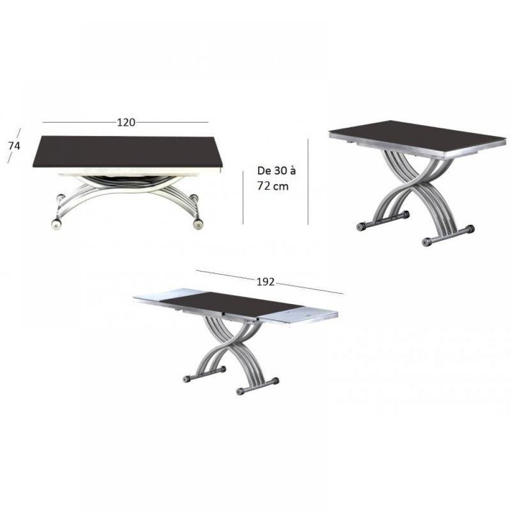 Table basse avec plateau relevable fly for Table basse plateau relevable fly