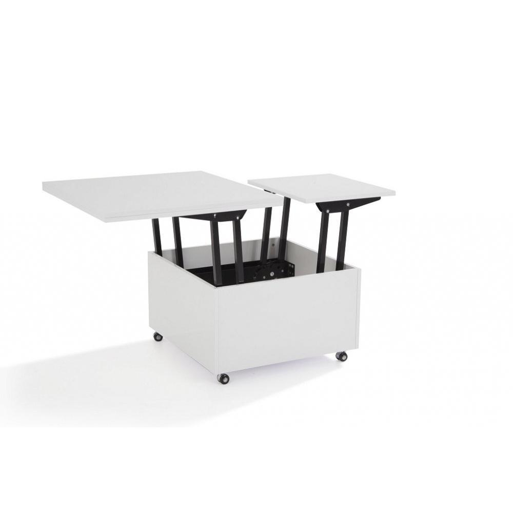Canap s ouverture express convertibles canap s for Table basse blanche relevable