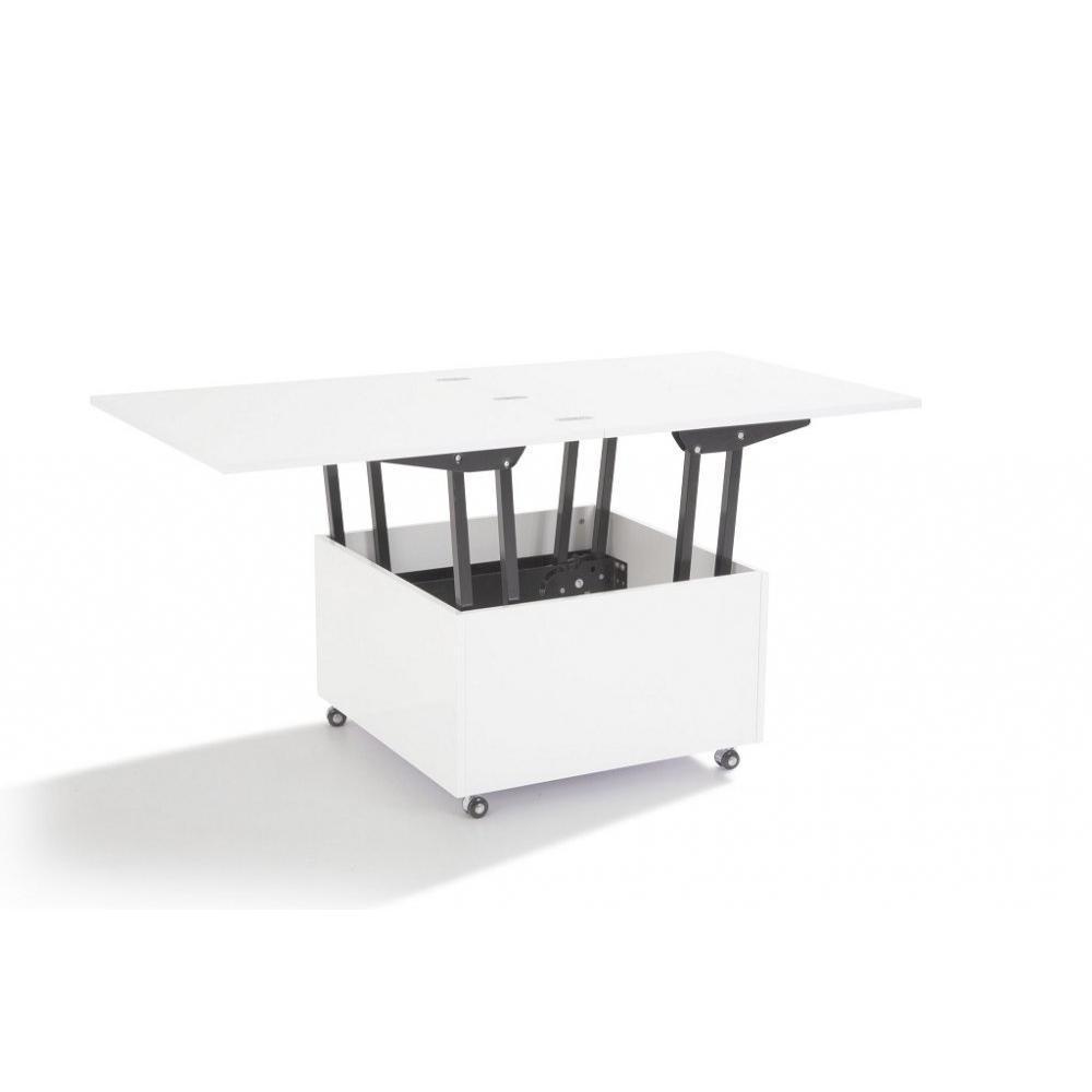 Canap s rapido convertibles design armoires lit - Table basse relevable blanche ...