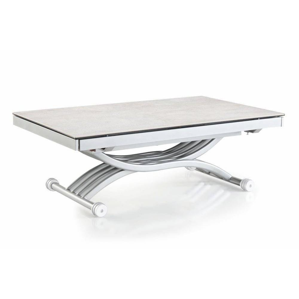 Table plateau ceramique extensible table extensible en for Plateau table extensible