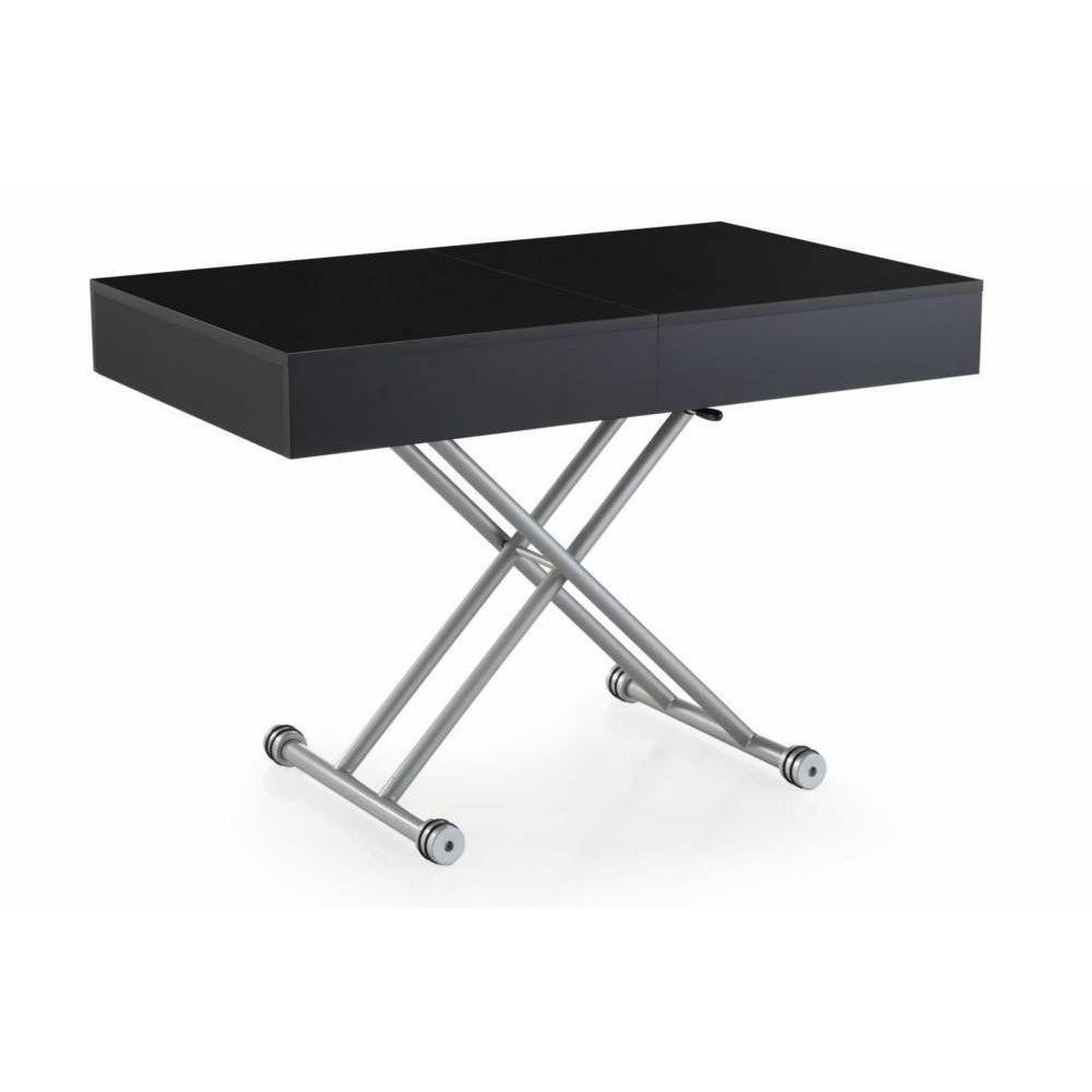 Table basse carr e ronde ou rectangulaire au meilleur - Table basse relevable noire ...