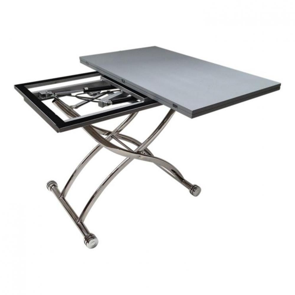 table relevable design ou classique au meilleur prix table basse high and low grise mat. Black Bedroom Furniture Sets. Home Design Ideas
