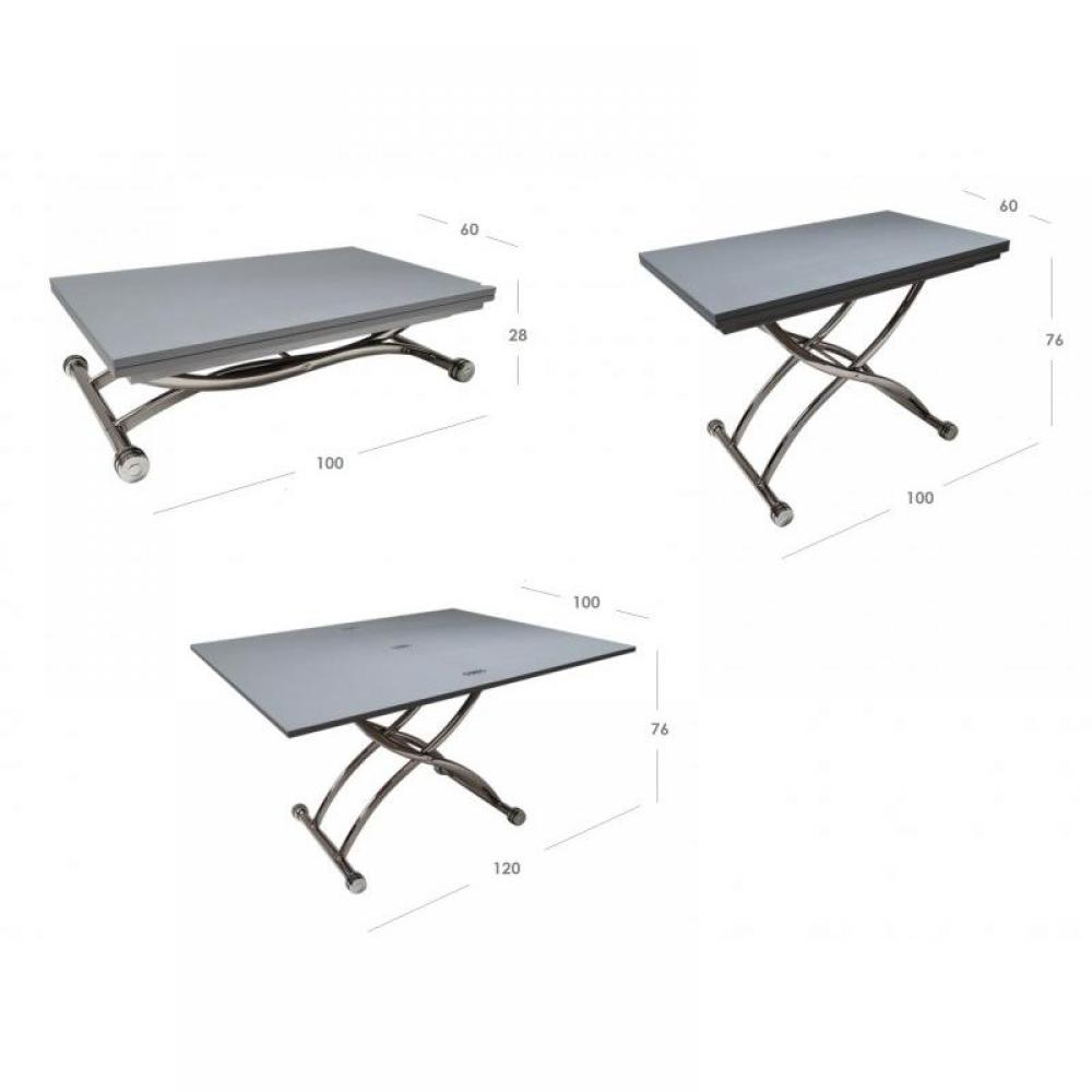 Table relevable design ou classique au meilleur prix - Petite table basse pliante ...