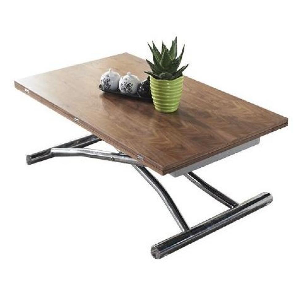 Table relevable design ou classique au meilleur prix for Table basse escamotable