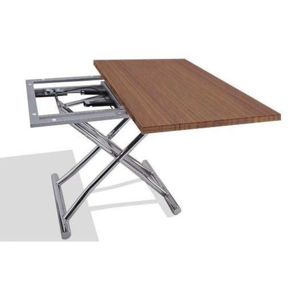 table relevable design ou classique au meilleur prix table basse high and low noyer relevable. Black Bedroom Furniture Sets. Home Design Ideas