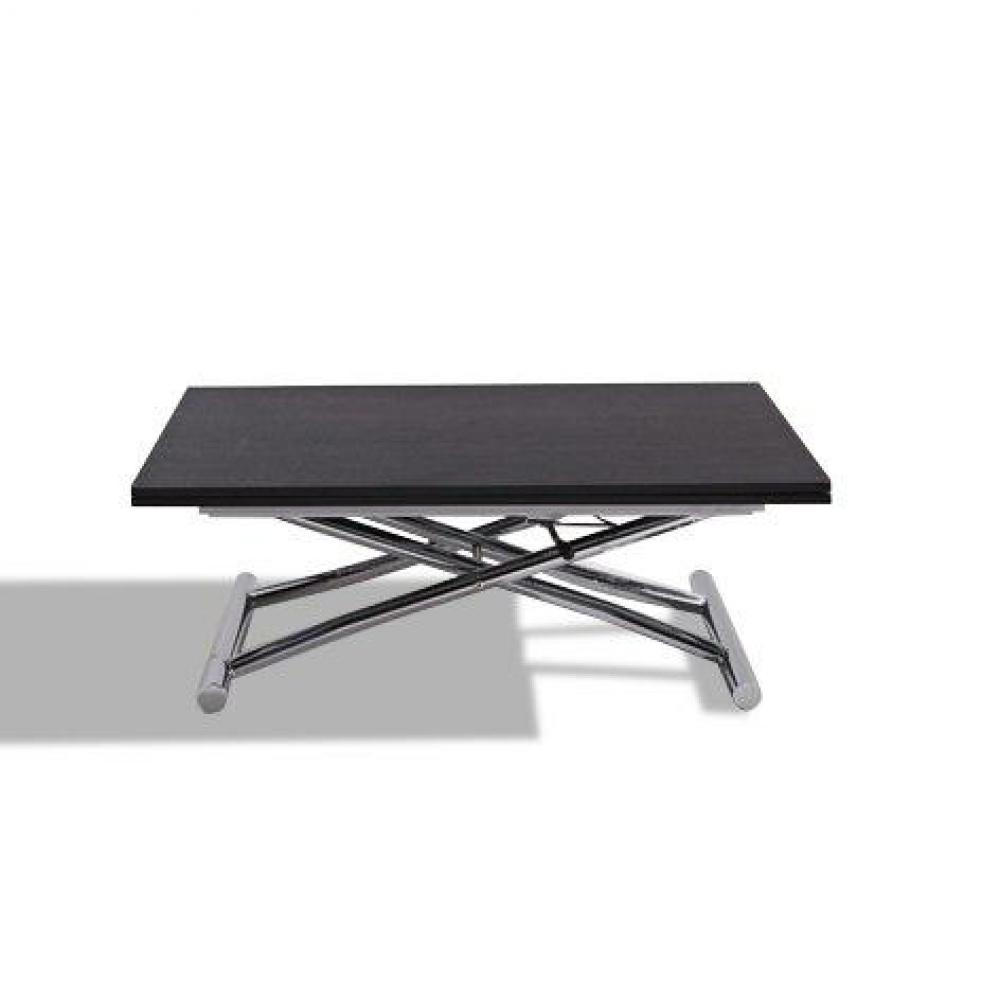 Table basse relevable extensible HIGH and LOW wengé Petite taille compacte.