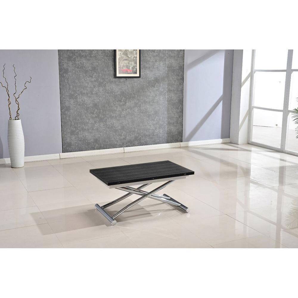 Table relevable design ou classique au meilleur prix table basse high and low bois ceruse noir - Table basse bois blanc ceruse ...