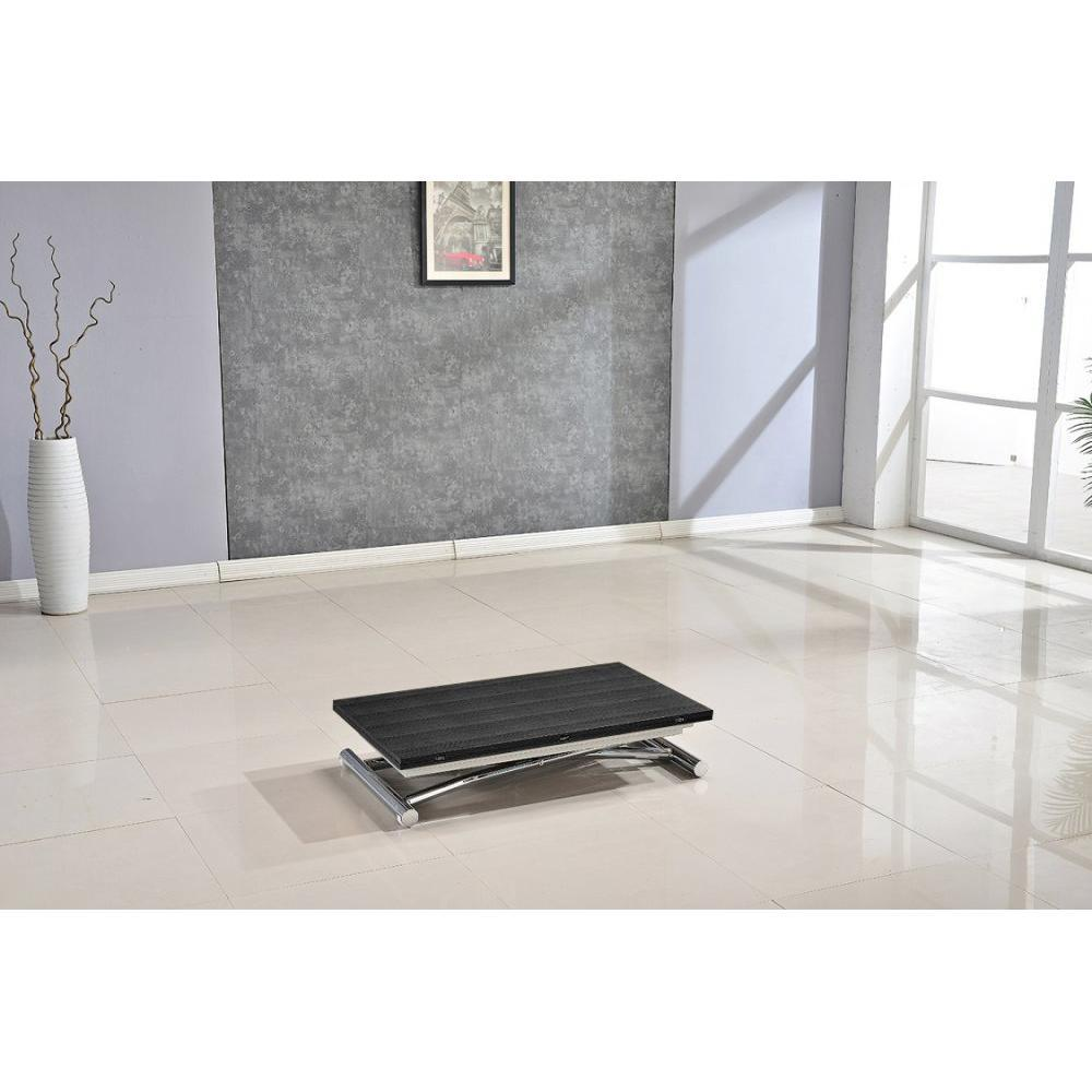 Table relevable design ou classique au meilleur prix table basse high and low bois ceruse noir - Petite table basse relevable ...