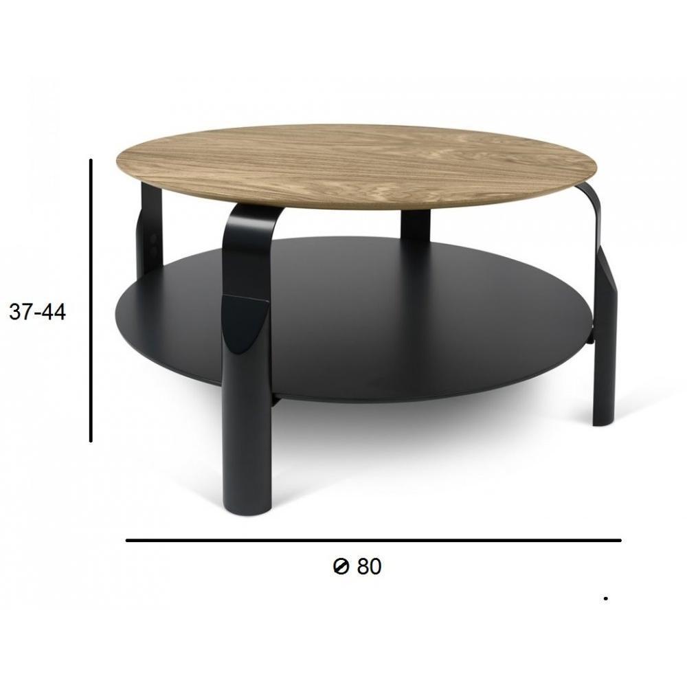 table basse carr e ronde ou rectangulaire au meilleur prix table basse reglable scale 80 80 cm. Black Bedroom Furniture Sets. Home Design Ideas