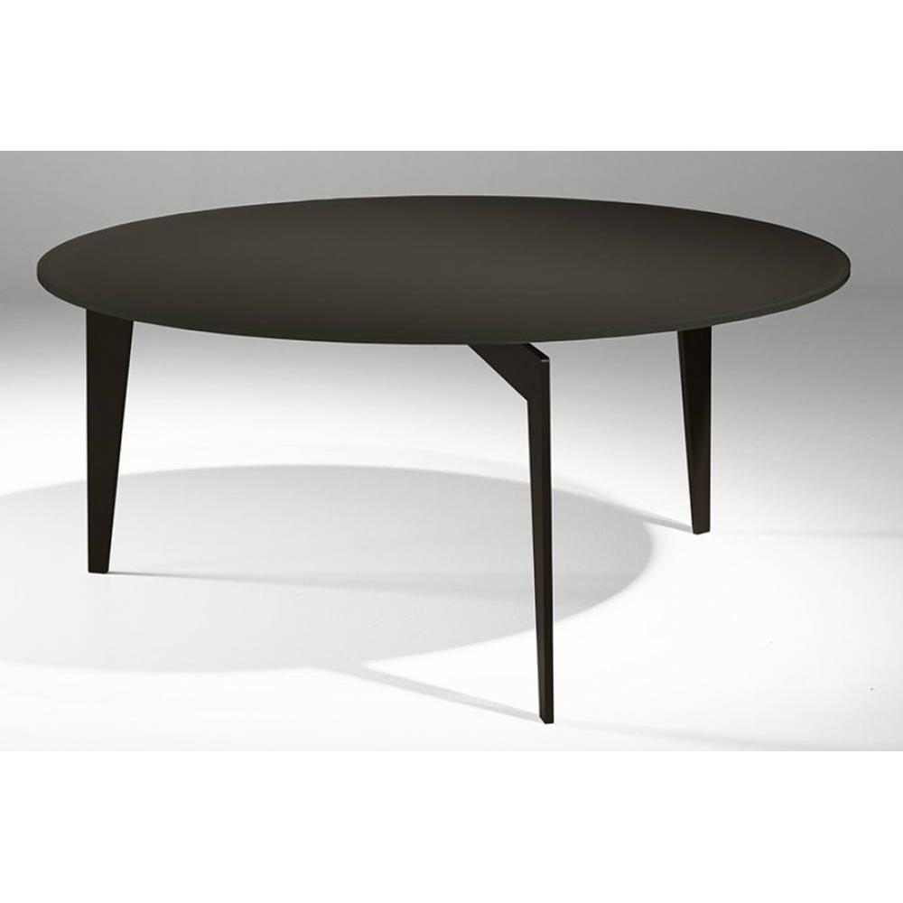 table basse carr e ronde ou rectangulaire au meilleur prix table basse ronde miky en verre. Black Bedroom Furniture Sets. Home Design Ideas