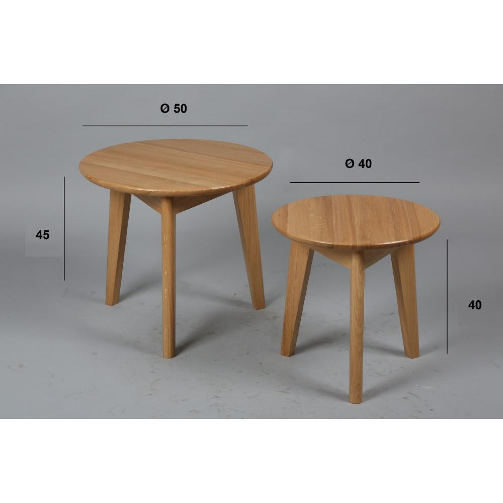 Table basse carr e ronde ou rectangulaire au meilleur prix lot de 2 tables - Tables basses rondes ...