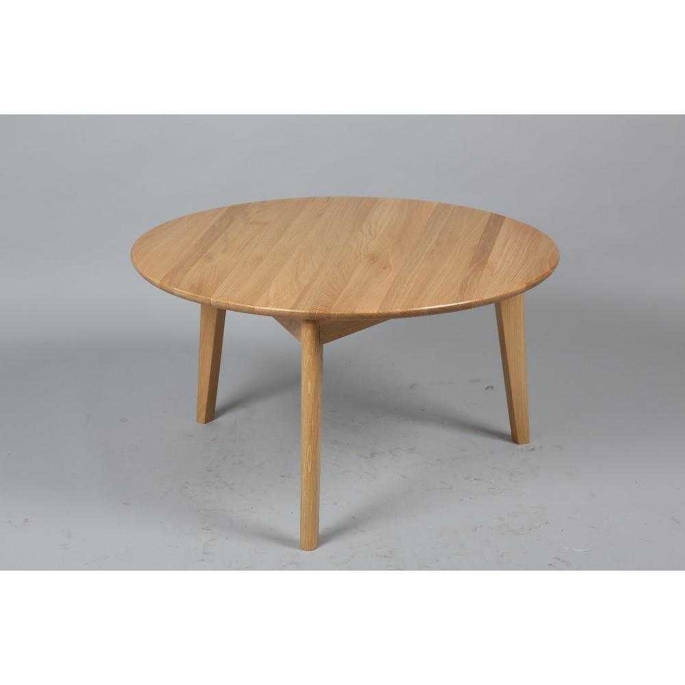 table basse carr e ronde ou rectangulaire au meilleur prix table basse ronde olga en ch ne. Black Bedroom Furniture Sets. Home Design Ideas