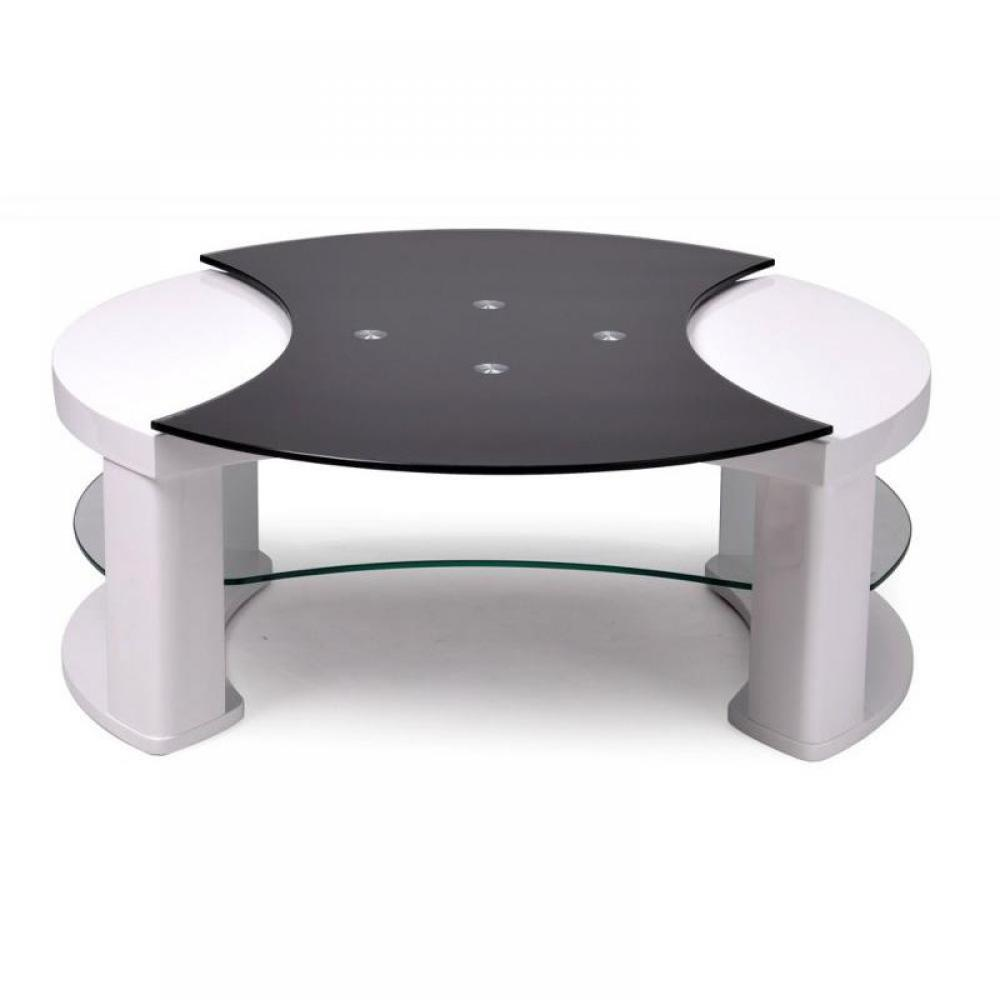Table Basse Retractable : table basse carr e ronde ou rectangulaire au meilleur prix table basse ronde r tractable turn ~ Teatrodelosmanantiales.com Idées de Décoration