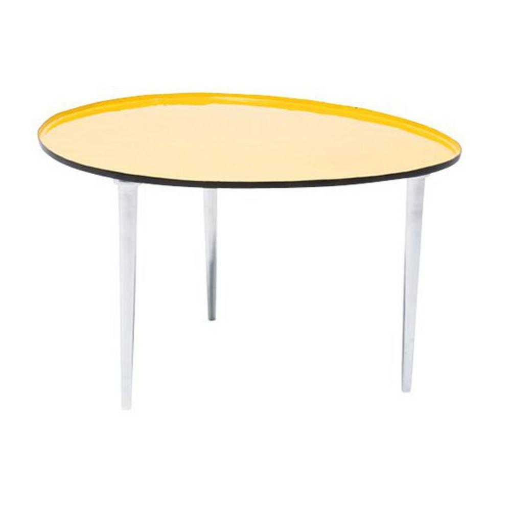 table basse carr e ronde ou rectangulaire au meilleur prix table basse salver jaune inside75. Black Bedroom Furniture Sets. Home Design Ideas