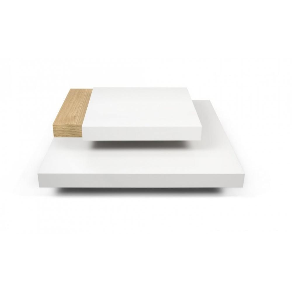 Chêne Slate Basse Blanche Table Et 4A5RjL3