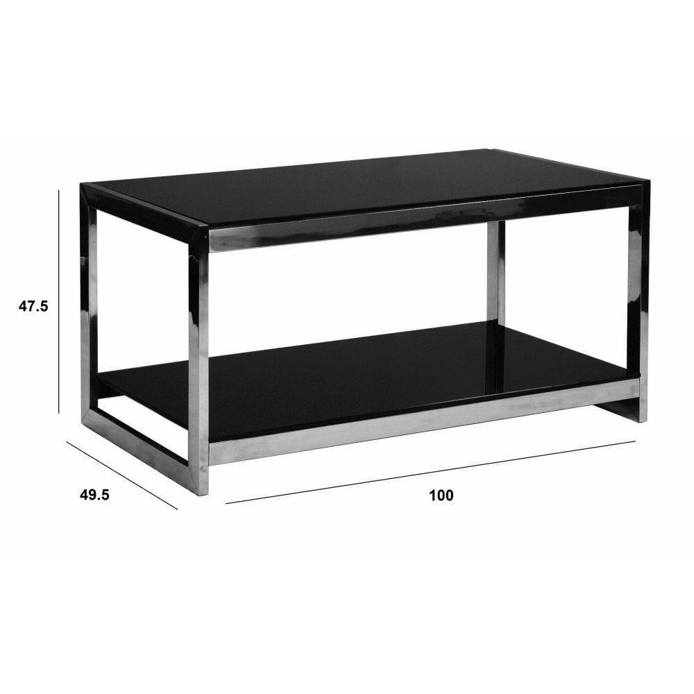 Table basse carr e ronde ou rectangulaire au meilleur prix table basse desi - Table basse noir verre ...
