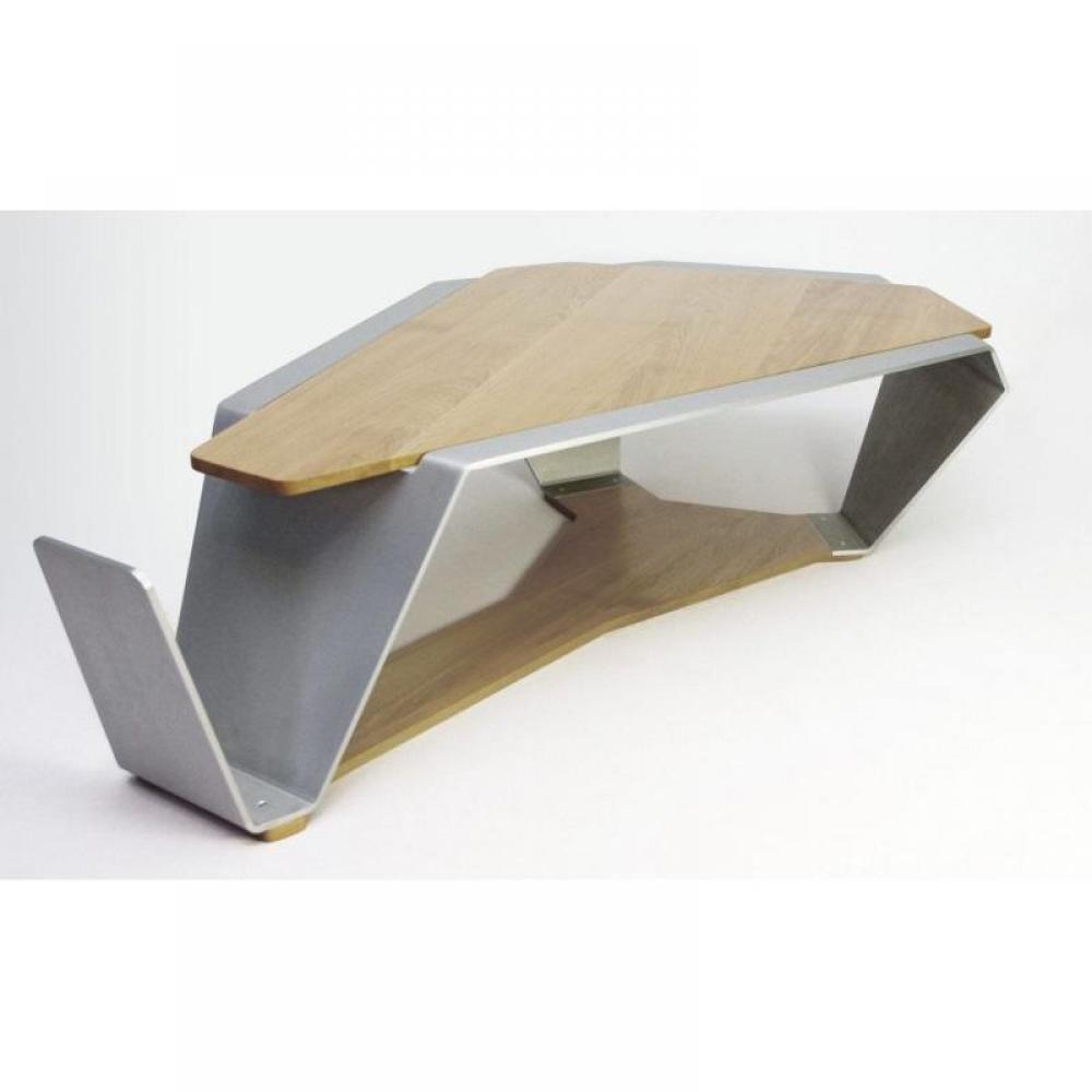table basse carr e ronde ou rectangulaire au meilleur prix table basse tabasse ch ne et inox. Black Bedroom Furniture Sets. Home Design Ideas