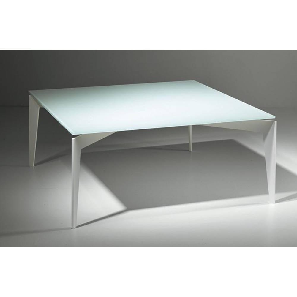 table basse carr e ronde ou rectangulaire au meilleur prix table basse tobias en verre blanc. Black Bedroom Furniture Sets. Home Design Ideas