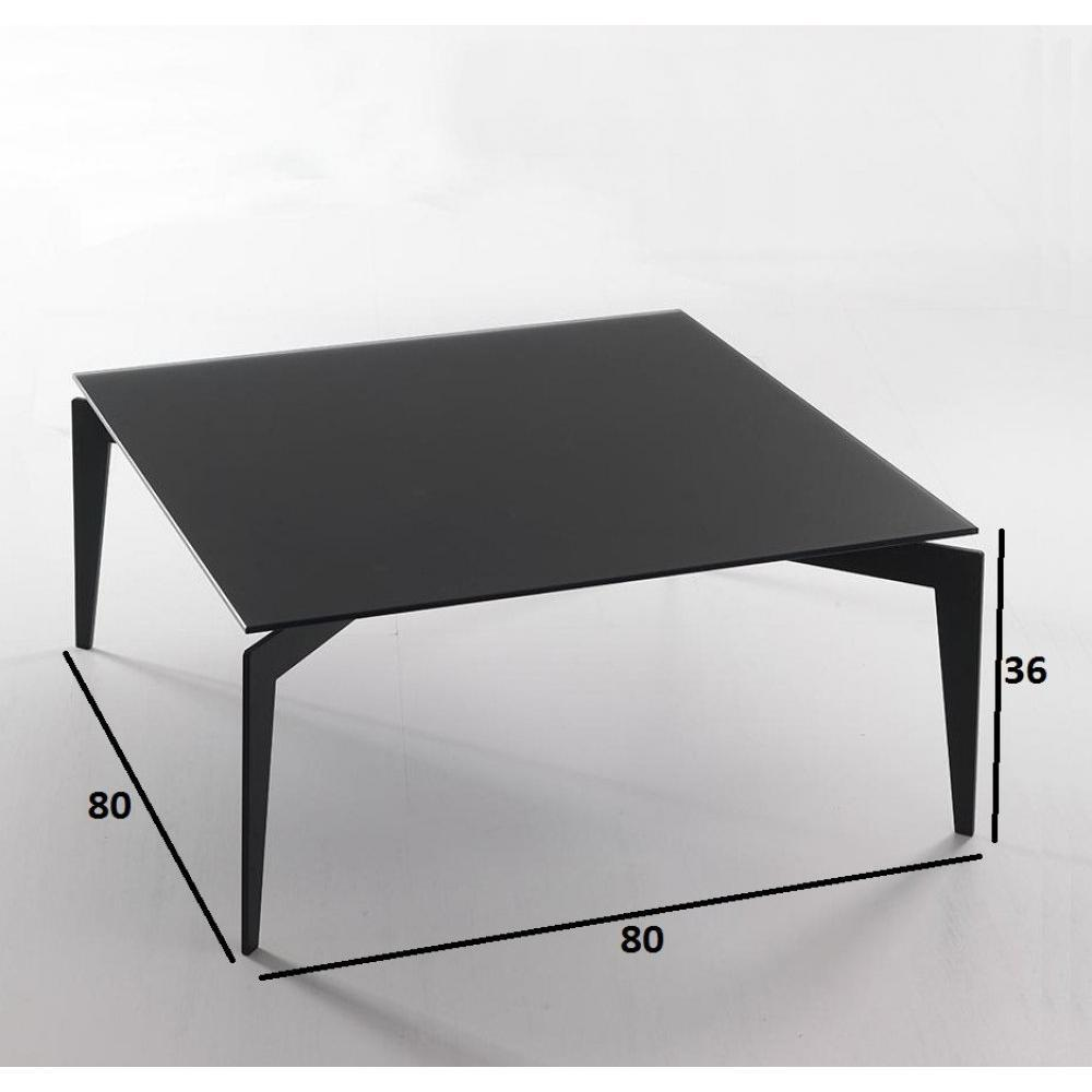 Table basse carr e ronde ou rectangulaire au meilleur prix table basse tobi - Table basse noir verre ...