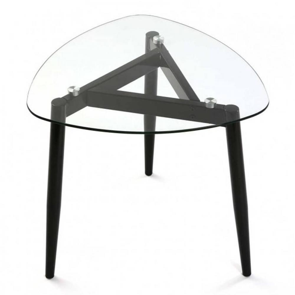 Table basse carrée, ronde ou rectangulaire au meilleur prix, Table basse VERRA plateau verre  # Table Basse Plateau Verre Pied Bois