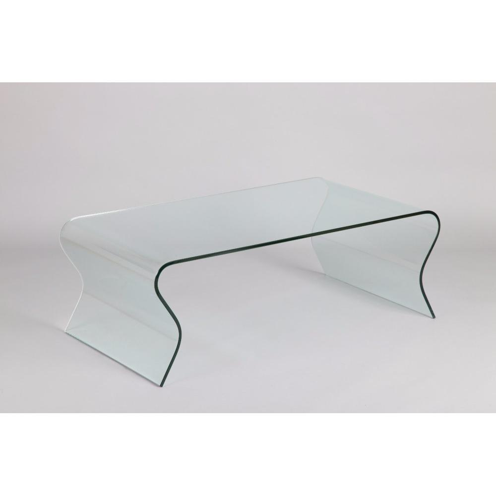 Table basse carr e ronde ou rectangulaire au meilleur prix table basse en verre ondul e scoop - Table en verre rectangulaire ...