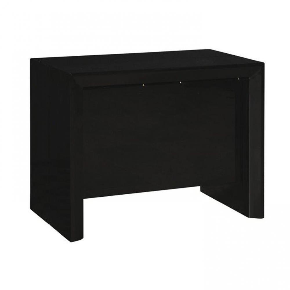 Consoles meubles et rangements misty table repas console extensible noir mat design inside75 - Table console extensible noir ...