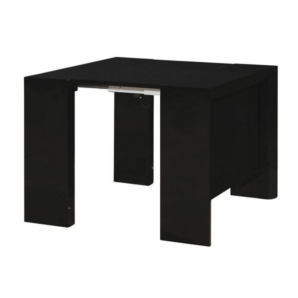 consoles meubles et rangements misty table repas console extensible noir mat design inside75. Black Bedroom Furniture Sets. Home Design Ideas