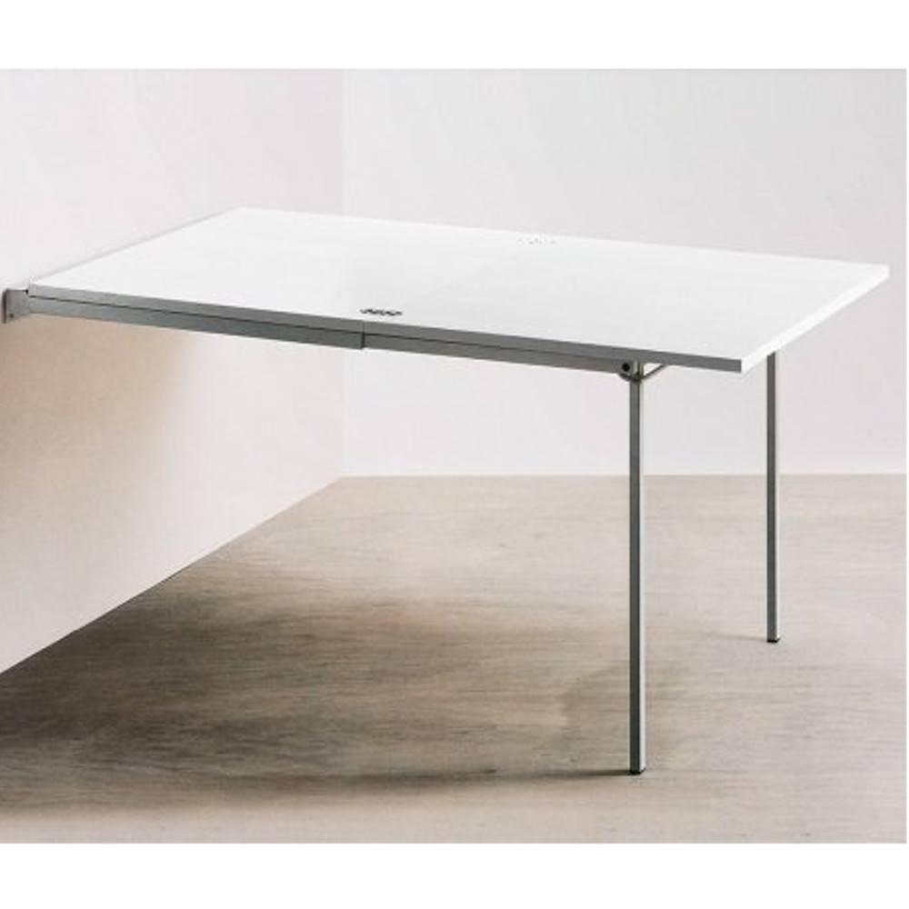 Interesting table console extensible pallo design blanche for Table rabattable murale conforama
