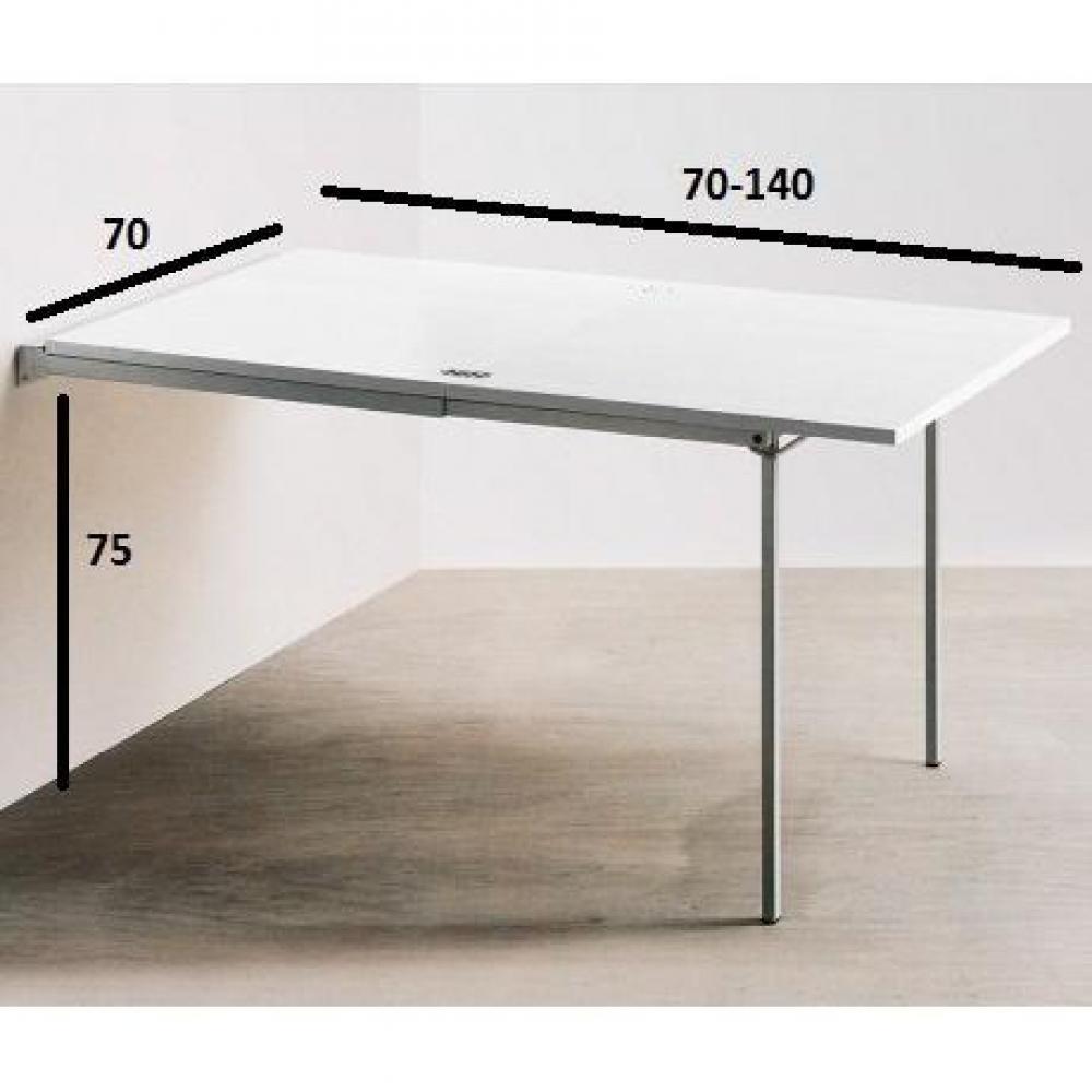 Pallo Blanche Extensible Design Console Table Détails Sur Nwmn80yvO