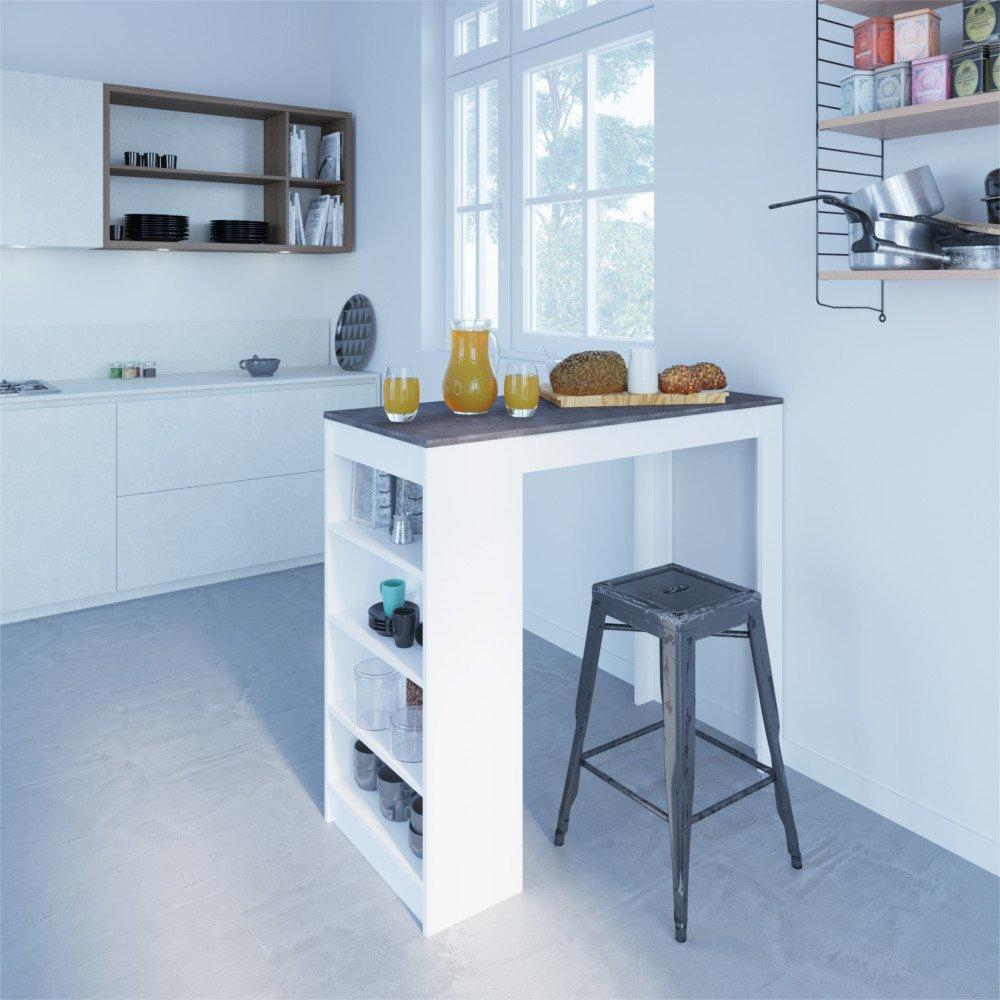 Tables Design Au Meilleur Prix, Table De Bar DOLAR Blanche