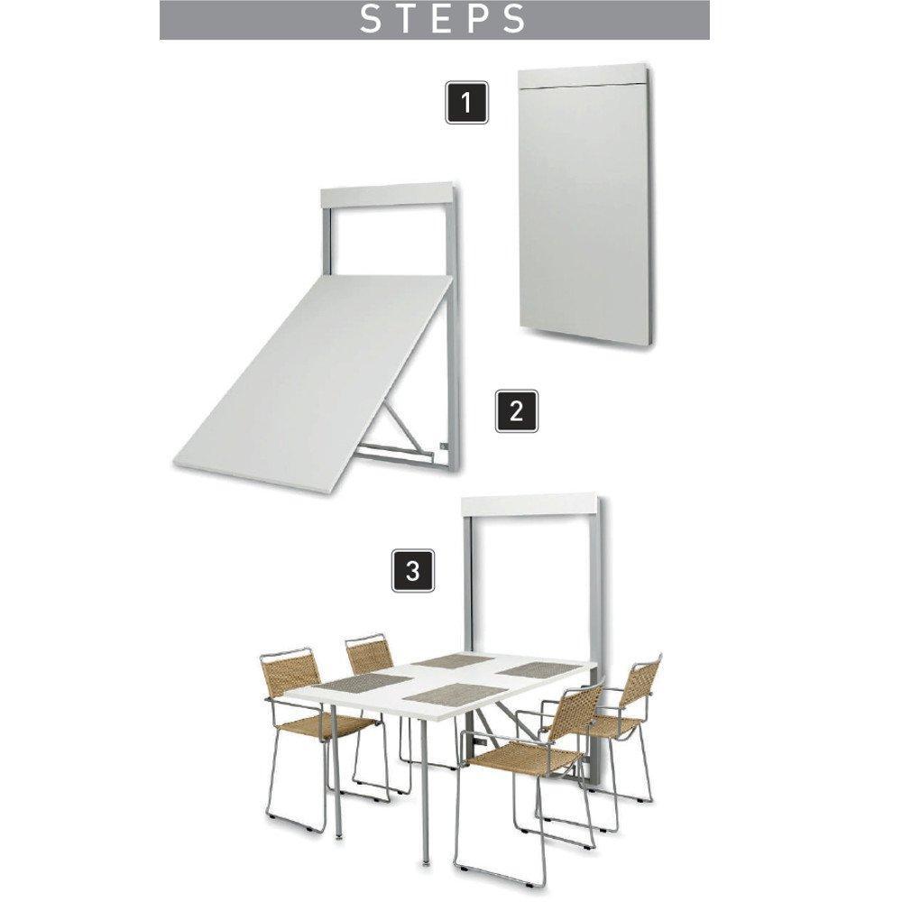 Table rabattable gain de place BATA blanc