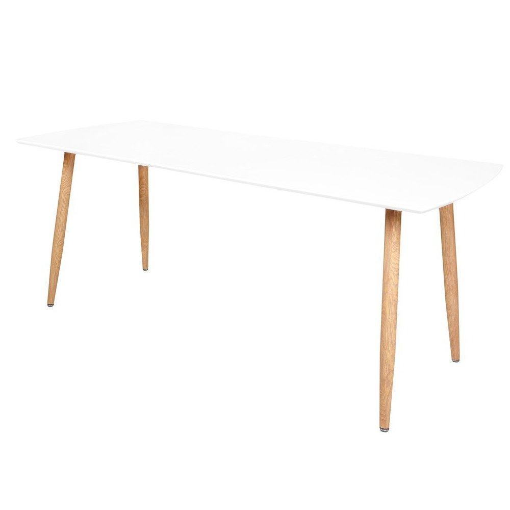 tables design au meilleur prix table repas extensible design scandinave rio 140 80 cm blanche. Black Bedroom Furniture Sets. Home Design Ideas