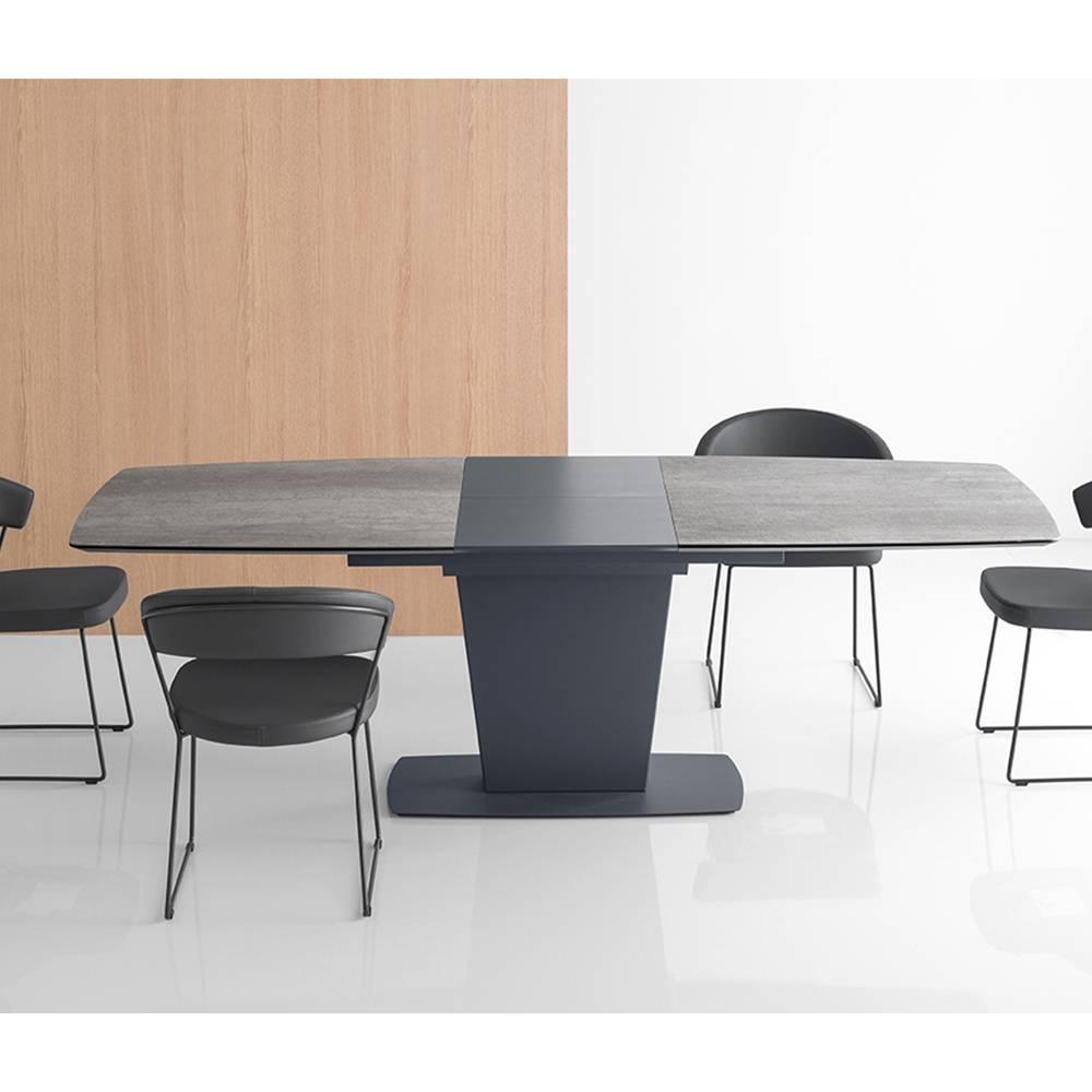 tables design au meilleur prix table de repas extensible jadis pm plateau en ceramique ciment. Black Bedroom Furniture Sets. Home Design Ideas