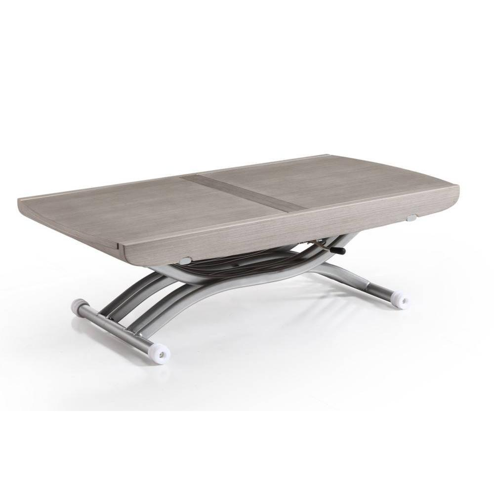 Tables basses tables et chaises table relevable lift ch ne gris extensible - Table extensible 20 couverts ...