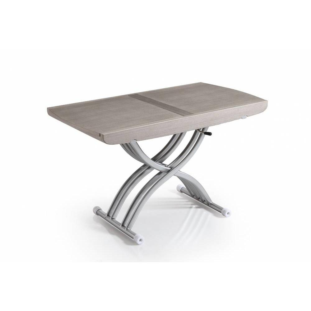 Table basse carr e ronde ou rectangulaire au meilleur for Table extensible gris clair