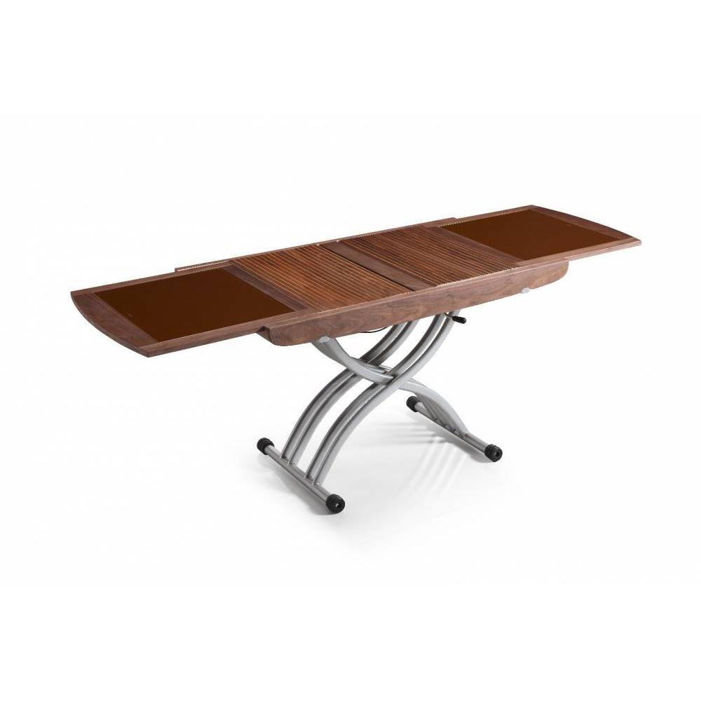 table relevable design ou classique au meilleur prix table relevable lift glass noyer verre. Black Bedroom Furniture Sets. Home Design Ideas