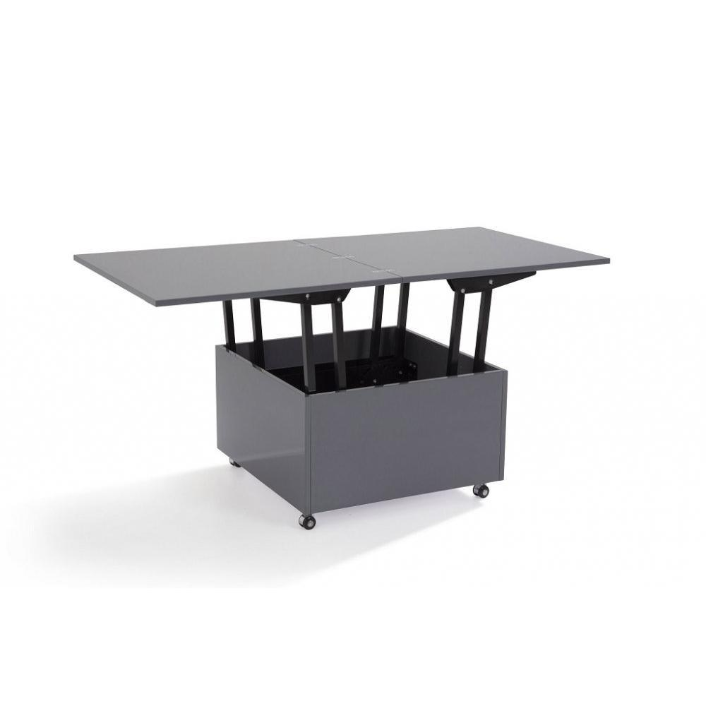 Table basse carr e ronde ou rectangulaire au meilleur for Table up down extensible