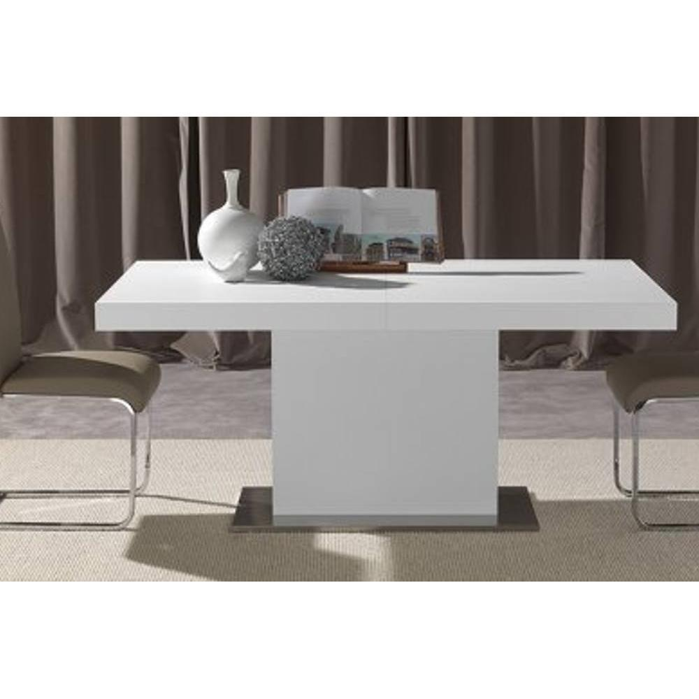 table de repas design au meilleur prix table repas design extensible domus blanche inside75. Black Bedroom Furniture Sets. Home Design Ideas